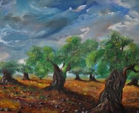 Olive trees at Ein El Assad